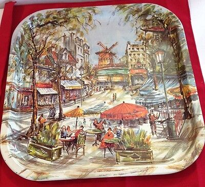"""Beautiful Vintage Brightly Colored  """"Daher Decorated Ware """" Made in England"""