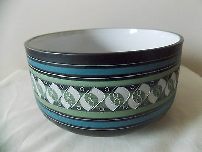 AMBLESIDE POTTERY studio ceramics LARGE BOWL sgrafitto George Cook signed art