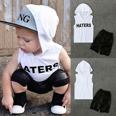 2pcs Toddler Kids Baby Boys Tops Hoodie T-shirt+ Shorts Pants Outfit Clothes Set