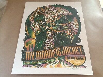 Guy Burwell My Morning Jacket poster Boston 2011 Pearl Jam S/N OF only 225 rare