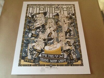 Guy Burwell My Morning Jacket poster rare AP MSG NYE Pearl Jam Mint Doodled s/n