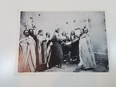 Vintage Native American Group Tribe Photograph B/W Possibly Pueblo