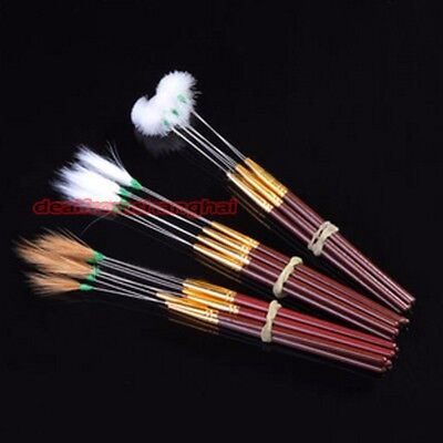1 X Feather Ear Cleaning Brush Tool Wax Cleaner Remover Ear Pick Wood Handle New