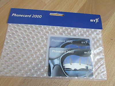 BT British Telecom MILLENIUM Dome 2000 Phonecard STILL Sealed in Packaging