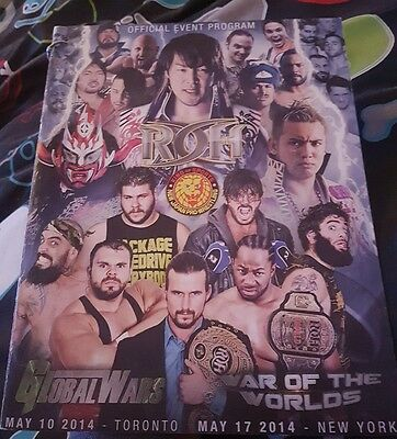 Official ROH  / NJPW - War of the Worlds 2014 Hand Signed Programme (AJ Styles)