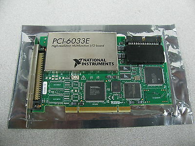 National Instruments High Resolution Multifunction I/o Board  Pci-6033E