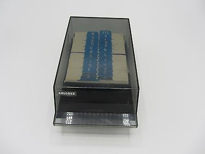 """Rolodex  Vip 24C Covered Card File 250 2 1/4"""" X 4"""" File Cards & A-Z Index Tabs"""