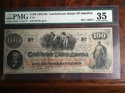 One Hundred Dollar Confederate States Of America Richmond