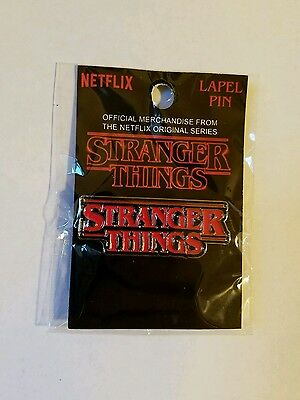 Rare Official New Stranger Things Promo Metal Logo Pin - Netflix Eleven Button