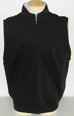 NWT Footjoy Spun Poly Performance Half-Zip Vest, Large, Black, 23027, $78 Ret.