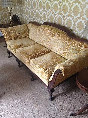 Vintage Mid-Century Couch Sofa 1950's/60's Atomic Print!