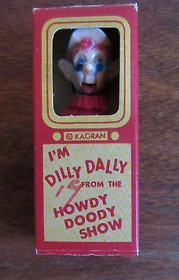 Vintage 1950's Dilly Dally From The Howdy Doody Show Kagran Toy With Box
