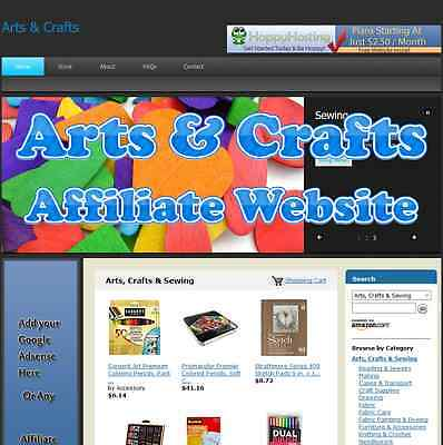 Automated Amazon Affiliate Arts & Crafts Website Business Adsense Clickbank Etc
