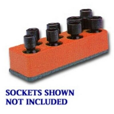 3/8 in. Drive Universal Red 8 Hole Impact Socket Holder MTS881 Brand New!