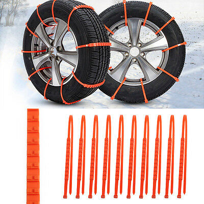 New 10Pcs Winter Anti-skid Chains fo Car Snow Wheel Tyre Thickened Tire Tendon