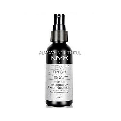 NYX Setting Spray Dewy Finish - Long Lasting finishing spray for setting makeup