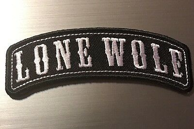 Lone Wolf....Biker Patch Motorcycle Jacket Outlaw