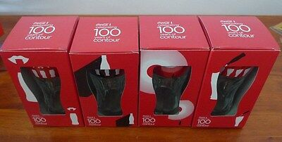 Coca Cola Celebrating 100 years of Contour Glasses Set of 4 new in Boxes