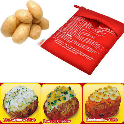 Potato Express Microwave Cooker Bag 4 Minutes Fast Reusable Washable New Useful