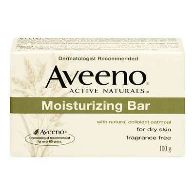 Aveeno Moisturizing Bar with Natural Colloidal Oatmeal for Dry Skin, Fragrance F