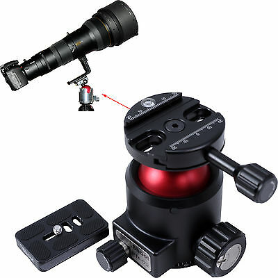 Heavy-duty Ball Head with Clamp Panorama Base+Quick Release Plate MAX. LOAD 30KG