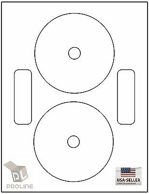 1000 CD / DVD Laser and Ink Jet Labels - Neato Compatible Full Face!  500 Sheets