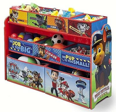Toy Organizer Paw Patrol Deluxe Multi-Bin Kids Storage box Container Xmas gifts