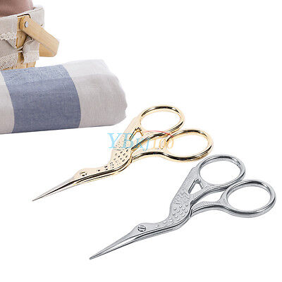 Practical 9.3*4.3cm Stainless Steel Embroidery Sewing Scissors Crane Shape Shear
