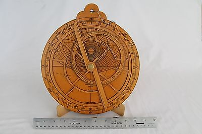 Astrolabe replica, precision medieval astronimical instrument and 24 hour clock
