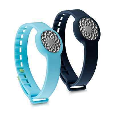 kwmobile 2in1 set: 2x sport spare bracelet for Jawbone UP Move in dark blue ligh