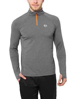 Ultrasport Men's Long-Sleeve Functional Running/Sports Shirt, highly stretchy