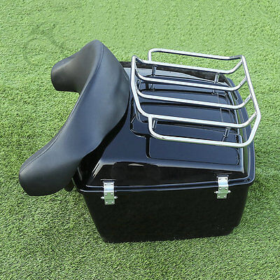 """King 13.1"""" Tour Pak Trunk Rack W/ Backrest For HD Harley Touring Electra Glide"""