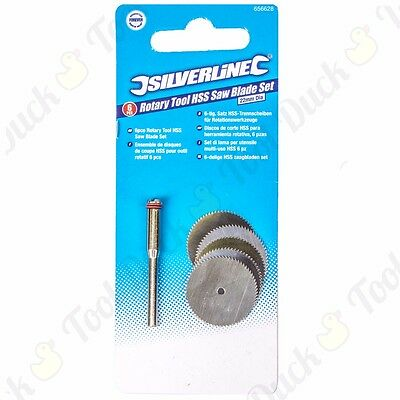 6Pc HIGH SPEED STEEL DREMEL CUTTING DISCS HSS Saw Wheel Rotary Tool Craft DIY