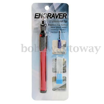 Red Micro Engraver Pen For Carved Metal Ceramic Glass Wood Painting Engraving