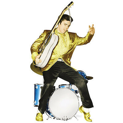 ELVIS PRESLEY Gold Jacket & Shoes CARDBOARD CUTOUT Standup Standee Poster F/S