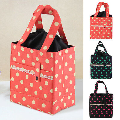 Insulated Thermal Picnic Box Child Kids Carry Travel School Lunch Bag Storage