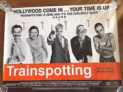 Trainspotting Original Double Sided UK Quad Film Poster From 1996 - Rolled/Rare