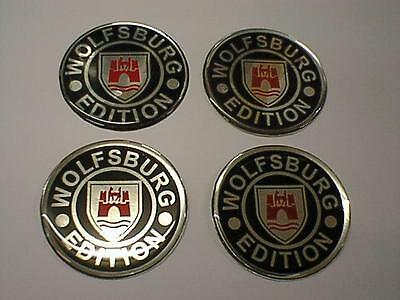 60mm Alloy Wheel Center Centre Badges WOLFSBURG vw