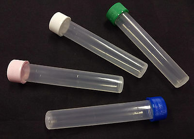 10ml Translucent Plastic Screw Cap Tube - Sample/Test/Bead/Seed/Storage Vial