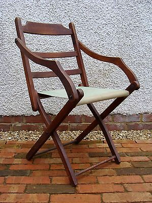 Vintage Military Folding Campaign Chair - Film Prop