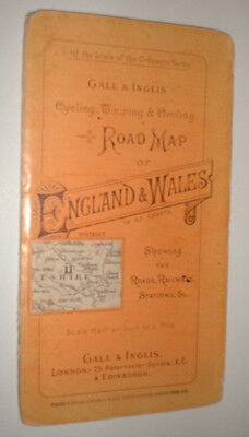 post 1875 GALL INGLIS CYCLING MOTORING ROAD MAP #11 DORSET railways stations