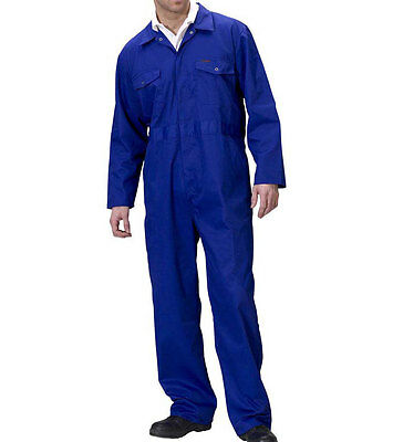 Mens Overalls Size 46inch Royal Blue Workwear Boilersuit Coverall Mechanics New