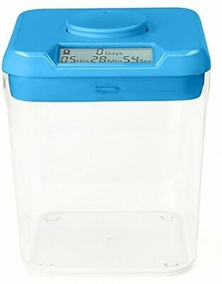 Kitchen Safe: Time Locking Container (Blue Lid + Clear Base) - 5.5 Height