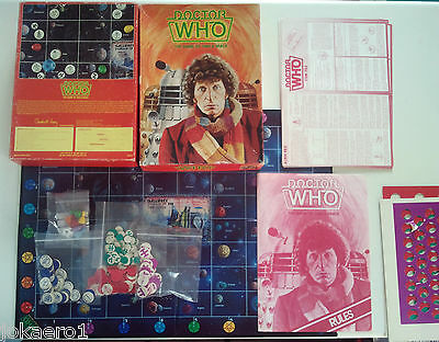 DOCTOR WHO Board Game: The Game of Time & Space Tom Baker Games Workshop Daleks