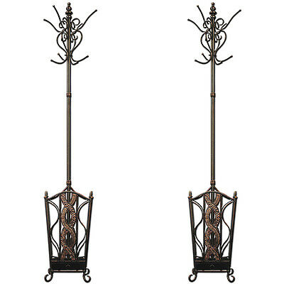 Celtic Style - Black Hat & Coat/Umbrella Stand - 190 cm