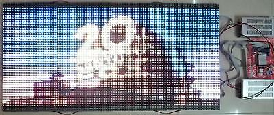 "50""x 25"" WiFi 1/4 Duty LED video Wall Full Color Programmable LED Sign DIY KIT"