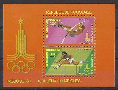 TOGO - BF N°137 Souvenir sheet New 1980 - JEUX OLYMPIQUES - MOSCOW