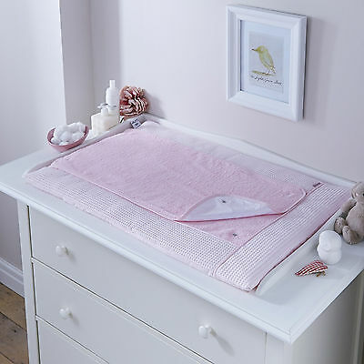 New 4Baby Pink Waffle Luxury Baby Changing Mat Removable Towling Cover