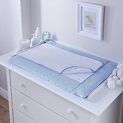 New 4Baby Waffle Blue Luxury Baby Changing Mat Removable Towling Cover