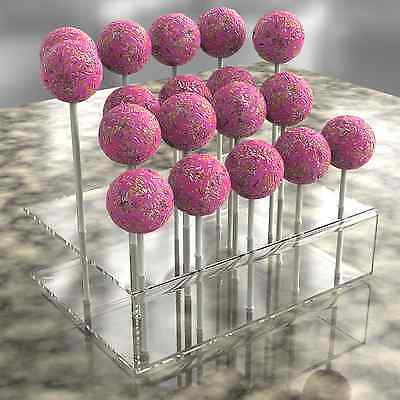 Acrylic Cake Pop Lollipop Holder Display Stand Partys Weddings Birthdays